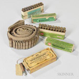 Krag Belt and Full Box of .45-55 Carbine Ammunition