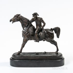 Bronze Figure of a Military Officer on Horseback