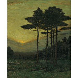 Charles Warren Eaton (American, 1857-1937)      The Sunset Hour