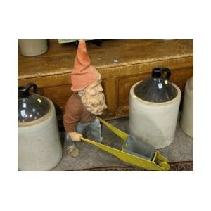Painted Plaster Gnome