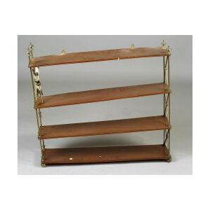 Empire-style Brass Mounted Four-tier Hanging Shelf