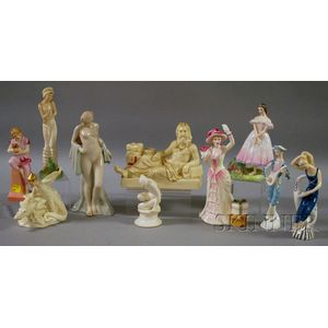 Ten Assorted Royal Doulton Porcelain Figures