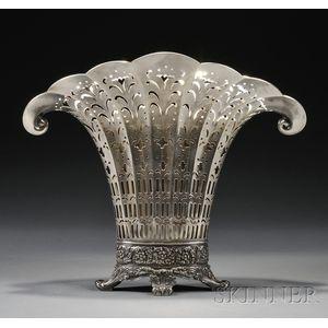 Tiffany & Co. Sterling Fan-shaped Flower Vase
