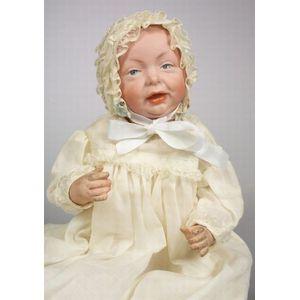 K*R 100 Bisque Head Character Baby