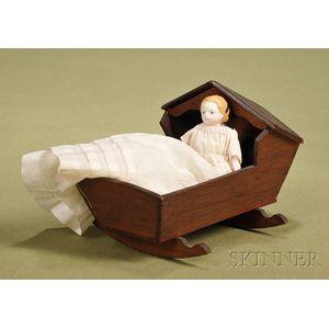 Squeak Toy Child with Cradle
