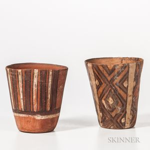 Pair of Pre-Columbian Pottery Cups