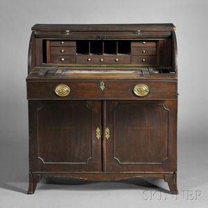 Mahogany Tambour Cylinder Desk