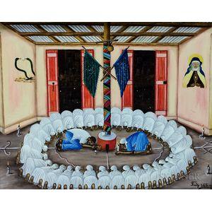 Fritz Valcin (Haitian, 20th Century)      Vodou Ceremony