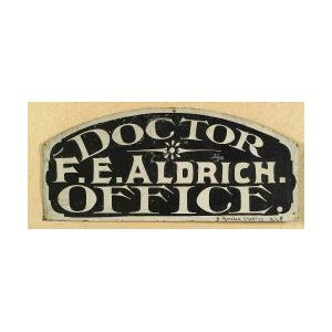 Painted Tin Doctor's Office Sign