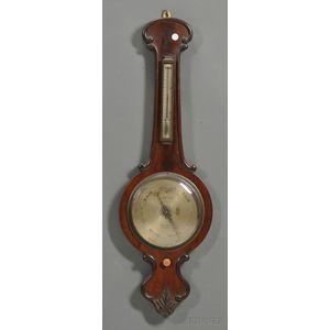 Irish Mahogany Banjo Barometer