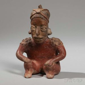 Jalisco Seated Pottery Figure