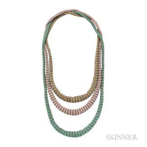 Three Glass Bead Necklaces, Wiener Werkstatte