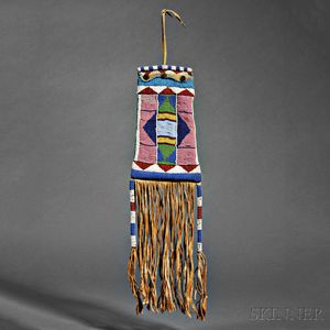 Ute Beaded Hide Pipe Bag
