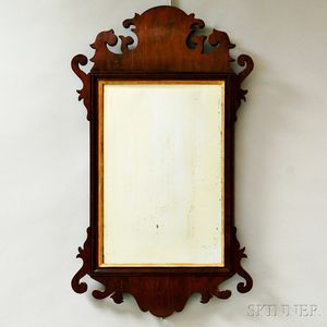 Chippendale-style Mahogany Scroll-frame Mirror
