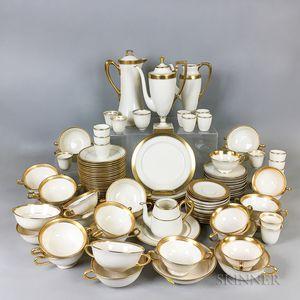 Large Group of Lenox and Belleek Gold Band Porcelain Teaware.     Estimate $20-200