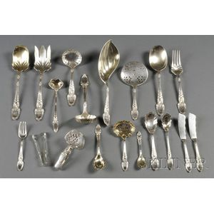 """Group of Tiffany & Co. Sterling """"Broom-corn"""" Pattern Serving Pieces"""