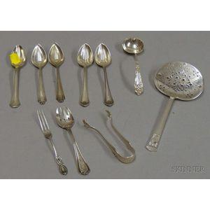 Ten Pieces of  Sterling Flatware
