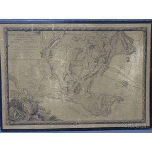 Framed Map of The Northern Italian Coast