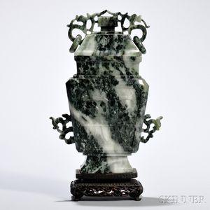 Jadeite Covered Vase