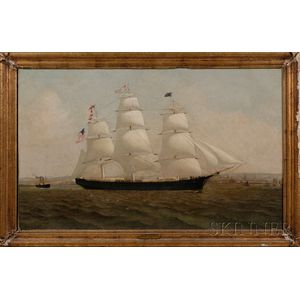 American School, 19th Century      Portrait of the American Ship SARAH NEWMAN.