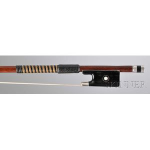 French Silver-mounted Violin Bow, Victor Fetique