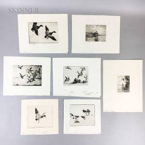 Frank Weston Benson (American, 1862-1951)    Seven Unframed Waterfowl Prints: Canada Goose