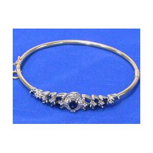 Diamond and Sapphire Bangle