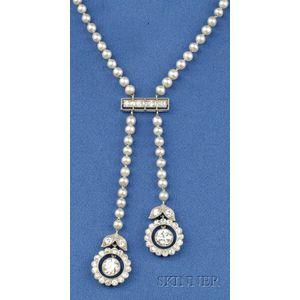 Art Deco Platinum, Diamond and Pearl Negligee