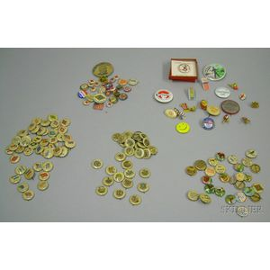 Collection of Mostly Early 20th Century Celluloid Pin-back Buttons