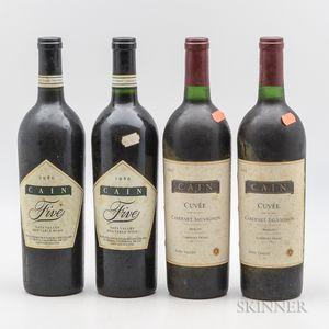 Cain Cellars, 4 bottles