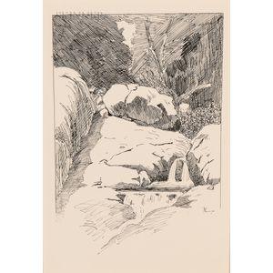 Frederic Remington (American, 1861-1909)      Pool among Rocks