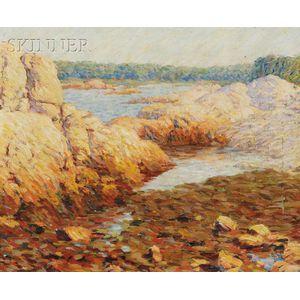 Marion P. Howard  (American, 1883-1953)      Rocky Coastal View