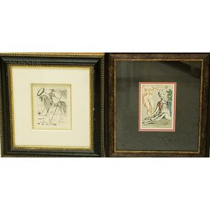 Two Prints After Salvador Dalí (Spanish, 1904-1989)    Don Quixote