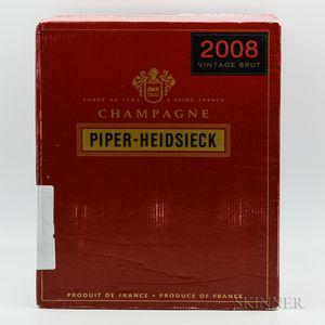 Piper Heidsieck Brut 2008, 6 bottles (ind. pc)