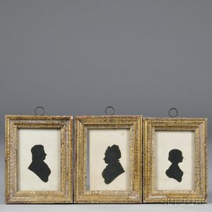 Three Cut Paper Silhouettes