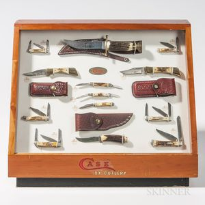Countertop Store Display of Case Knives