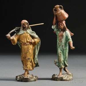 Pair of Austrian Cold-painted Bronze Figures of North Africans