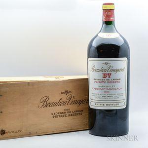 Beaulieu Georges de Latour Private Reserve 1986, 1 6 liter bottle (owc)
