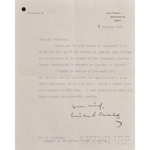 Churchill, Sir Winston L.S., (1874-1965)