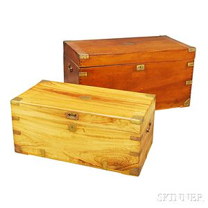 Two Brass-bound Camphor Chests