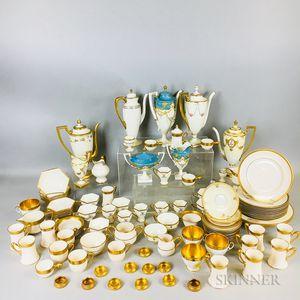 Large Group of Lenox and Belleek Gold-band Porcelain.     Estimate $20-200