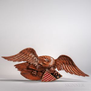 """Carved and Painted """"Newport"""" Eagle Plaque"""