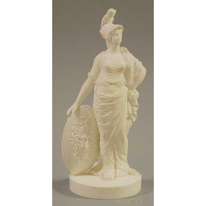 Derby Bisque Figure of Athena