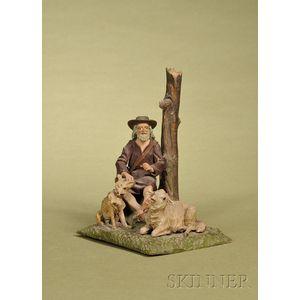 Carved Wood Shepherd