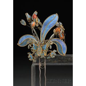 Kingfisher Feather Hairpin