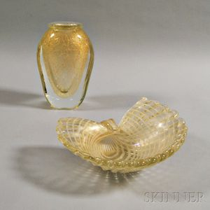 Eleven Modern Glass Items