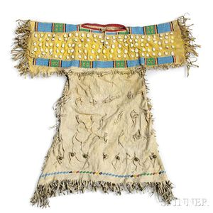 Southern Cheyenne Beaded Hide Child