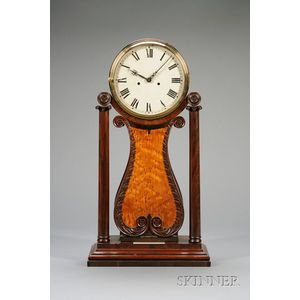 Mahogany Shelf Lyre Clock
