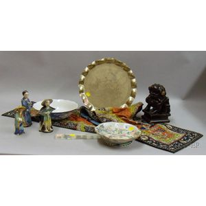 Approximately Nine Asian and Other Decorative Items