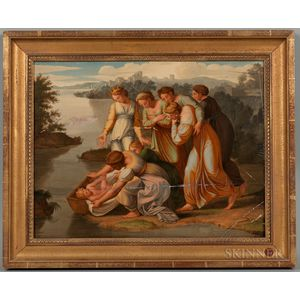 After Raphael (Italian, 1483-1520)      Two Works: The Finding of Moses